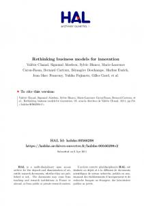 Rethinking business models for innovation - Hal