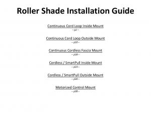 Roller Shade Installation Guide - Blinds