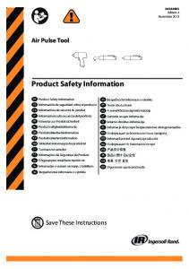 Safety Information_Air Pulse Tool