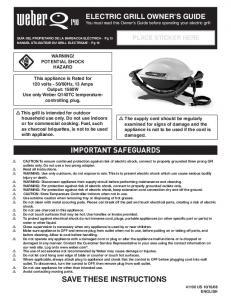 save these instructions important safeguards - FireCraft