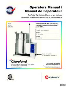 SE95010-1 R7 (Kettle Table Top Gas) IN ... - Cleveland Range