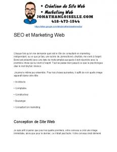 SEO​​et​​Marketing​​Web