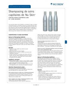 Shampoo Product Information Page (French)