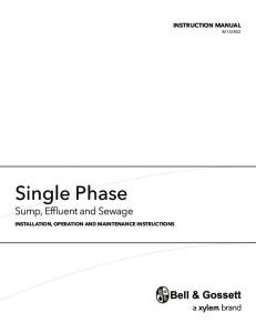 Single Phase - Pump Products