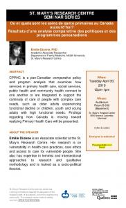 st. mary's research centre seminar series