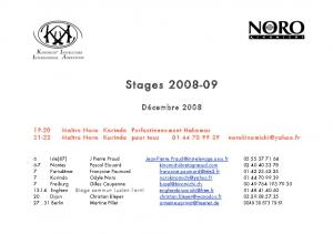 Stages 2009