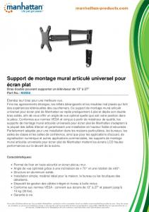 Support de montage mural articulé universel ... - Manhattan Products