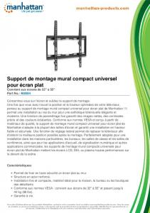 Support de montage mural compact universel ... - Manhattan Products