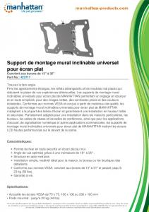 Support de montage mural inclinable universel ... - Manhattan Products