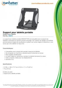 Support pour tablette portable - Manhattan Products