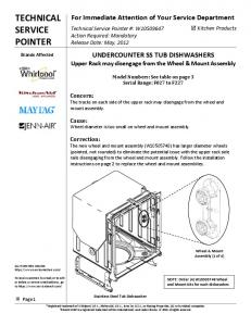 technical service pointer - Whirlpool Parts