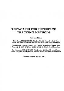 Test-cases interface tracking