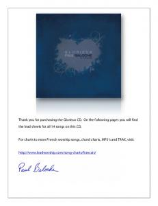 Thank you for purchasing the Glorieux CD. On the ... - Leadworship.com