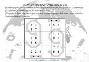 The 9th of September: world sudoku day