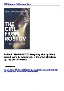 THE GIRL FROM ROSTOV: Everything adds up. Every second, every ...