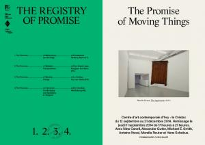 The Promise of Moving Things The RegisTRy Of PROMise 1. 2. 3. 4.