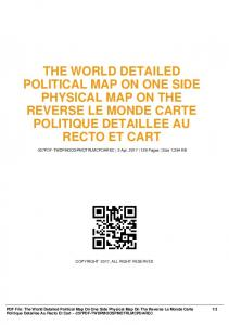 the world detailed political map on one side physical ...  AWS