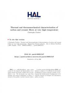 Thermal and thermomechanical characterisation of carbon and
