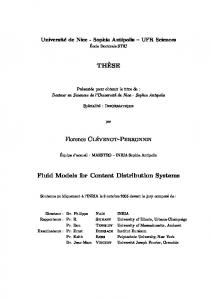 TH`ESE Florence Clévenot-Perronnin Fluid Models for Content ...