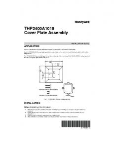 THP2400A1019 Cover Plate Assembly - Honeywell - Forward Thinking