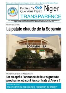 transparence - Publish What You Pay