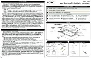 tub surround - Toto USA