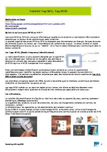 Tutoriel Tag NFC, Tag RFID
