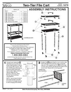 Two-Tier File Cart