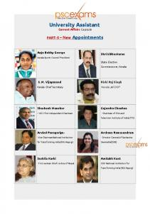 UA   CURRENT AFFAIRS  Appointments