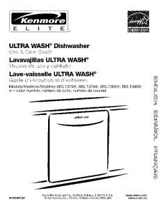ULTRA WASH ®Dishwasher Lave-vaisselle ULTRA WASH ®