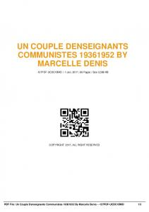 un couple denseignants communistes 19361952 by ...  AWS