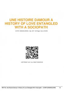 une histoire damour a history of love entangled with ...  AWS