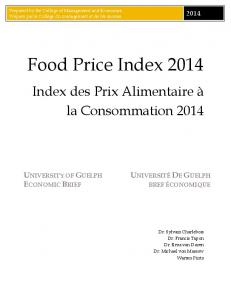 University of Guelph - Food Price Index 2014