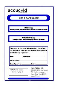 use & care guide - Summit Appliance