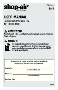 user manual - Shop-Vac