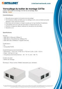 Verrouillage du boîtier de montage CAT5e - Intellinet Network