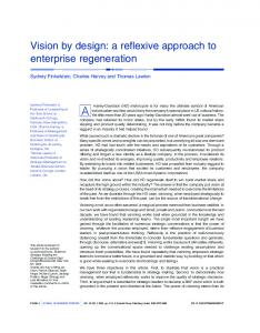 Vision by design: a reflexive approach to enterprise ... .fr