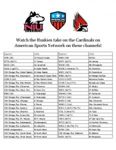 Watch the Huskies take on the Cardinals on American ...