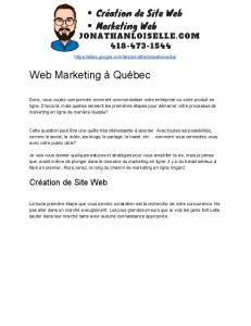 Web​​Marketing​​à​​Québec