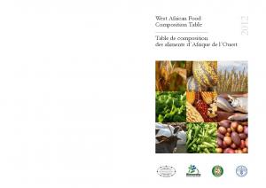 West African Food Composition Table - Food and Agriculture ...
