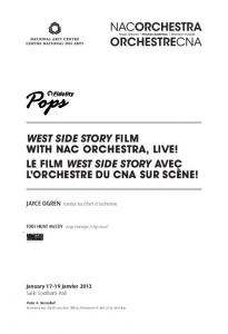 West side story Film with NAC OrChestrA, live! le ...  AWS