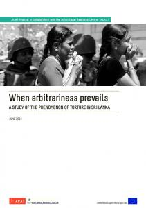 When arbitrariness prevails - Acat