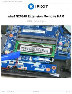 why! N240JU Extension Mémoire RAM