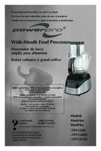 Wide-Mouth Food Processor