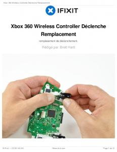 Xbox 360 Wireless Controller Déclenche Remplacement