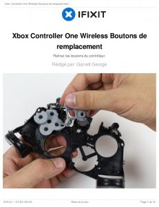 Xbox Controller One Wireless Boutons de remplacement