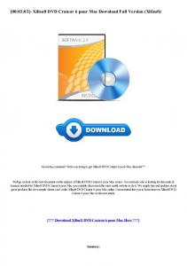 Xilisoft DVD Crateur 6 pour Mac Download Full ... - WordPress.com