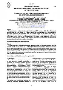 XPS study of natural and artificial ageing of polyethylene (PDF ...